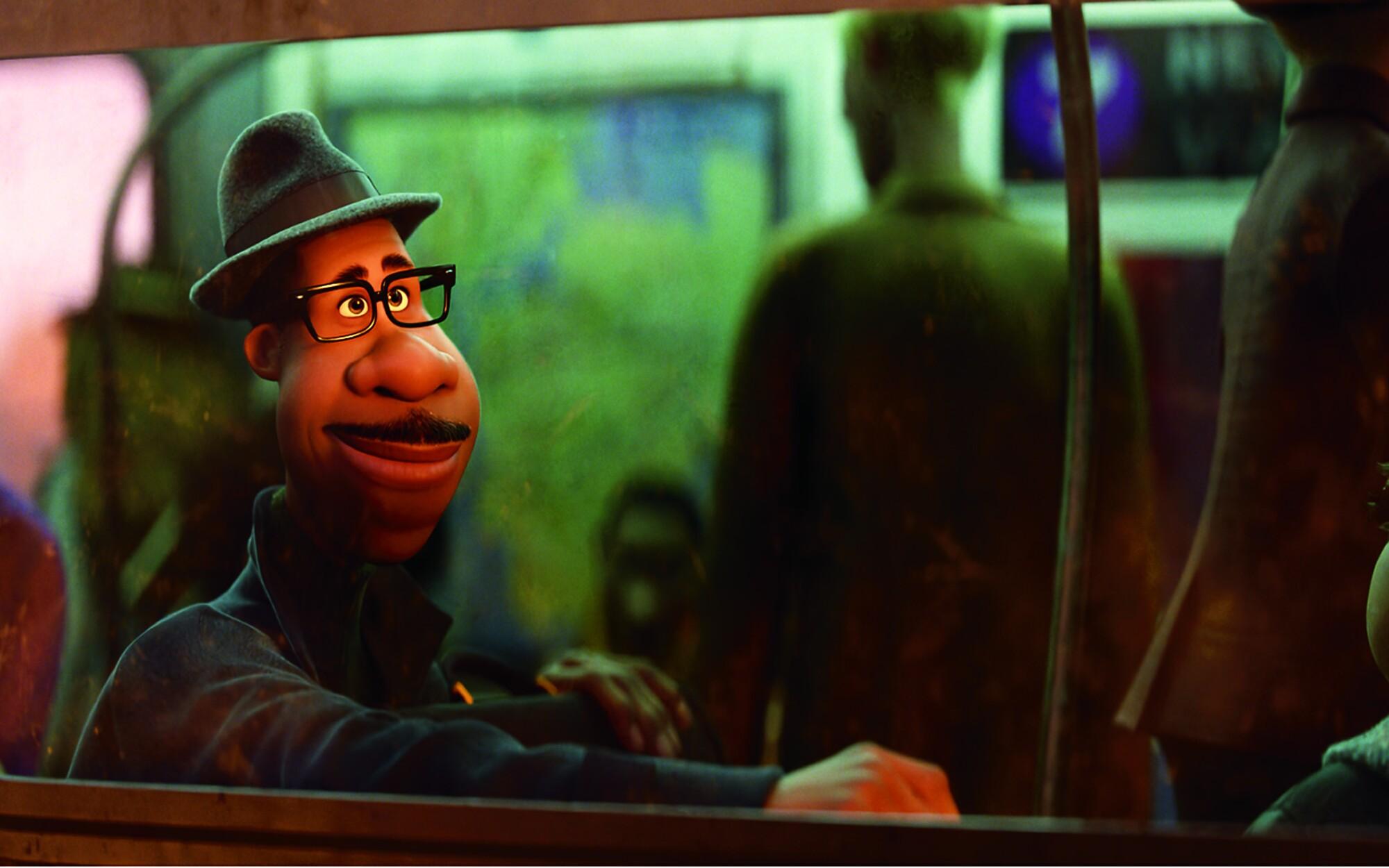 """Joe Gardner, the protagonist of """"Soul,"""" is voiced by Jamie Foxx."""