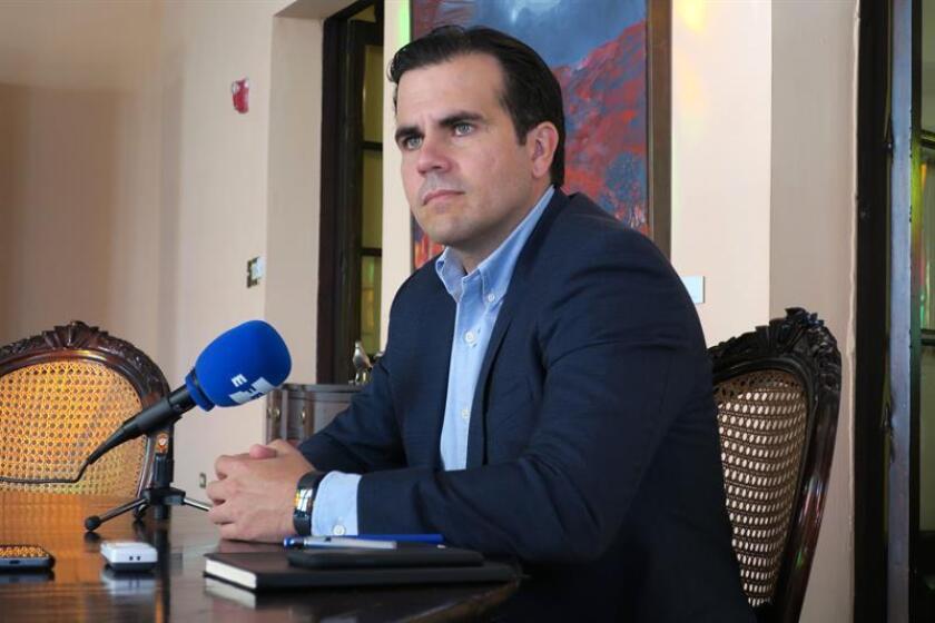 El gobernador de Puerto Rico, Ricardo Rosselló, habla en entrevista con Efe. EFE/Archivo