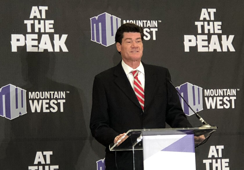Mountain West commissioner Craig Thompson has worked to keep the 12-team conference intact amid conference realignment.