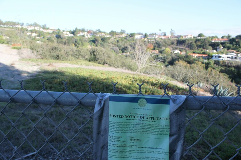 As part of its liquidation process, Copley Press, Inc. is seeking to subdivide and sell 25 acres at the end of Country Club Drive, near La Jolla Summit. Pat Sherman photos