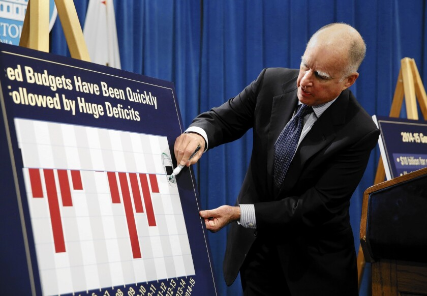 Jerry Brown ready to commit to a rainy-day fund - Los