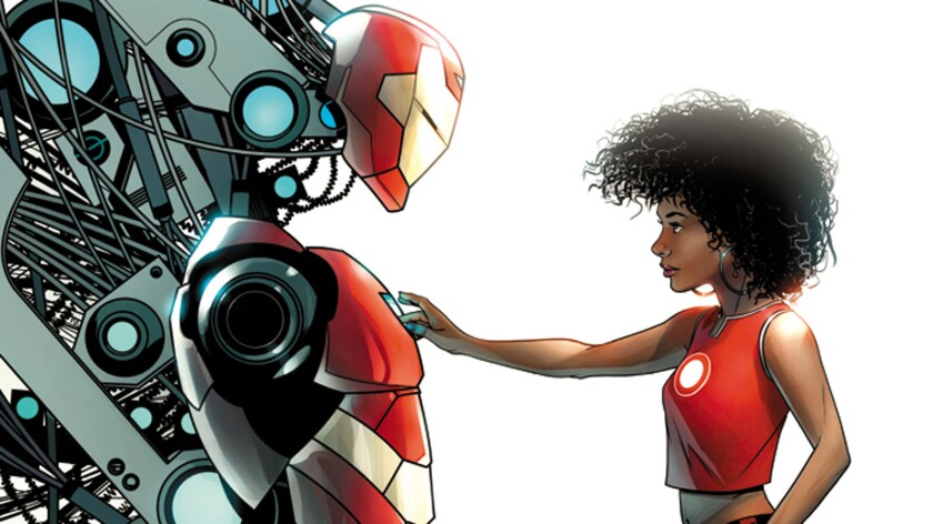 """""""Invincible Iron Man"""" No. 1 STEAM variant cover by Mike McKone."""