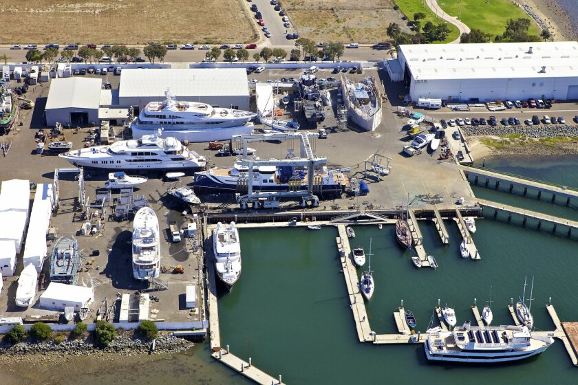 Aerial view of Marine Group Boat Works at its current Chula Vista site.