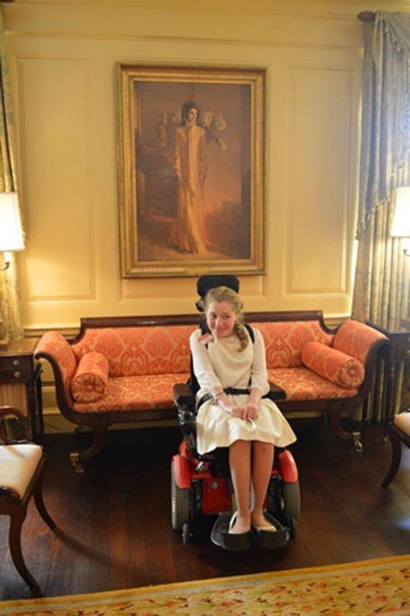 La Jolla High School junior Lilly Grossman at the White House