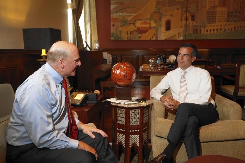 Steve Ballmer, L.A. Mayor Eric Garcetti