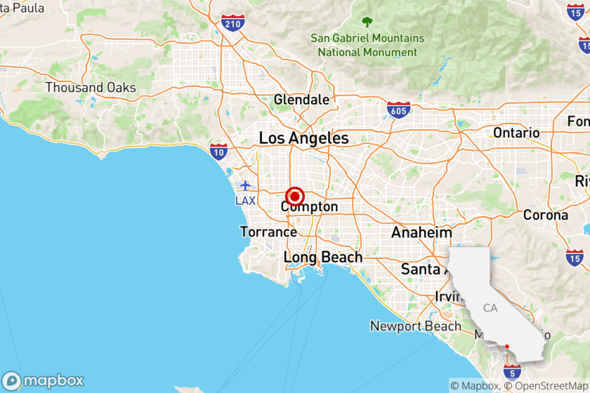 A magnitude 3.5 earthquake was reported Wednesday morning at 8:31 a.m. in the Willowbrook neighborhood of Los Angeles