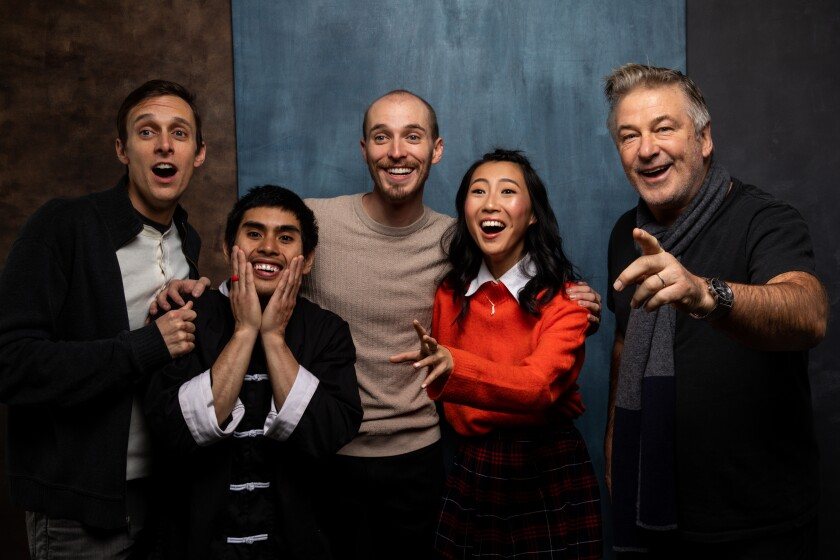 """Director Danny Madden, actors Jose Angeles, Will Madden, Shirley Chen and executive producer Alec Baldwin of """"Beast, Beast"""""""