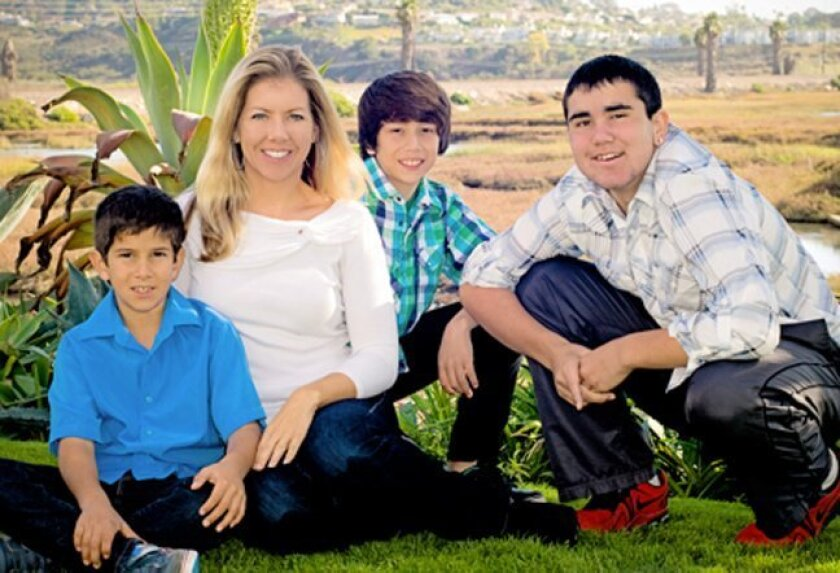 Trust and estate lawyer Kristina Hess with her three sons