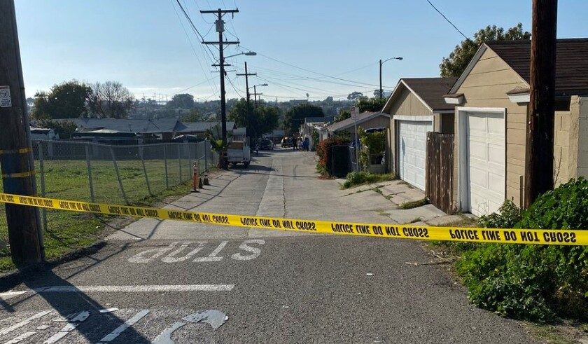 San Diego police responded to a shooting that left one person dead in Mountain View on Monday afternoon.