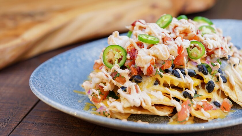 LOBSTER NACHOS AT THE NEW LAMPLIGHT LOUNGE (ANAHEIM, Calif.) – Lobster Nachos, a popular item at t