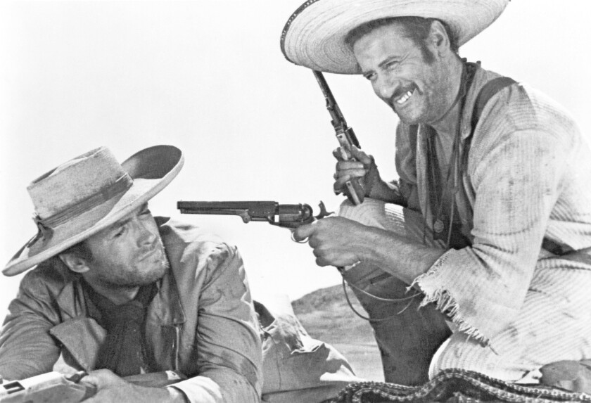 "Clint Eastwood, left, and Eli Wallach in ""The Good, the Bad & the Ugly."""