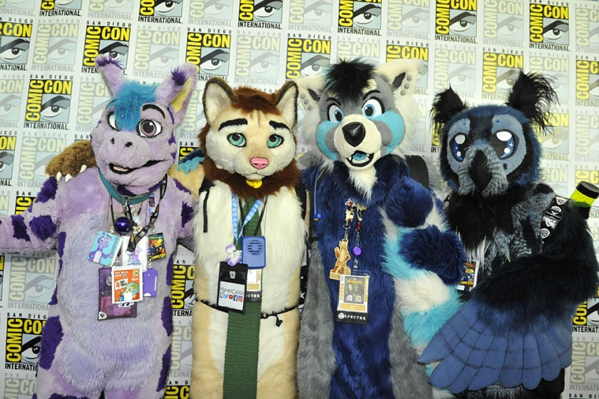 Photos of cosplayers at Comic-Con International on Friday, July 19, 2019.