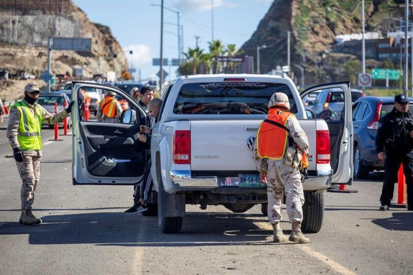 Efectivos de la Marina Armada de México realiza un operativo en el estado de Baja California (México). EFE/Archivo