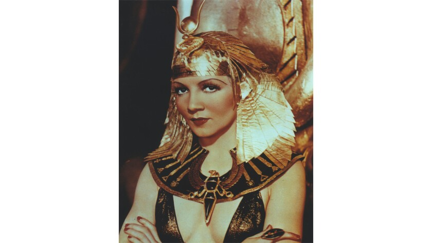 """Claudette Colbert in 1934's """"Cleopatra,"""" screening Sunday at 7 p.m. at the Egyptian Theatre."""