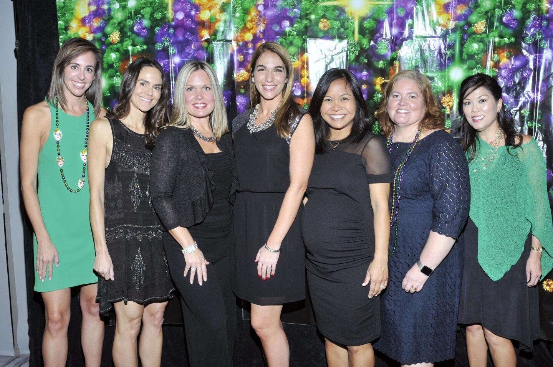 5th annual Soaring Soiree committee members Robyn Spiegel, Randi Marsella, Rachel Justice, Ashley Falls PTA President Debbie Sigal, Jane Desai, Beth McInerney, Stacie Hurtado