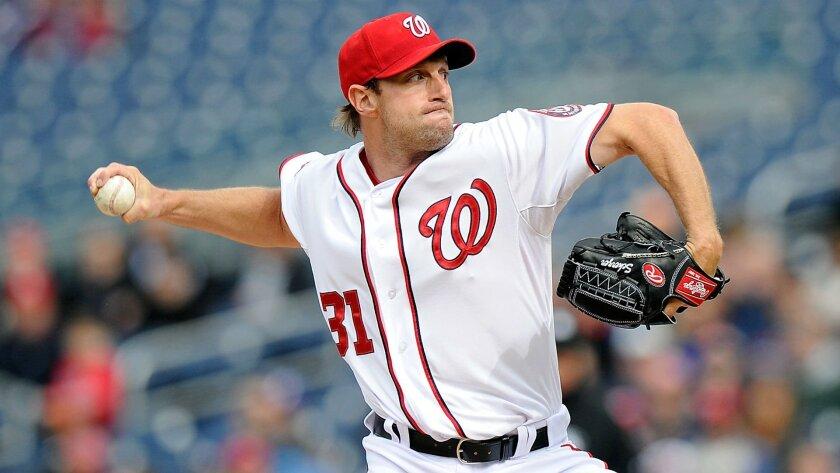 Max Scherzer, pitcher de los Nacionales de Washington.