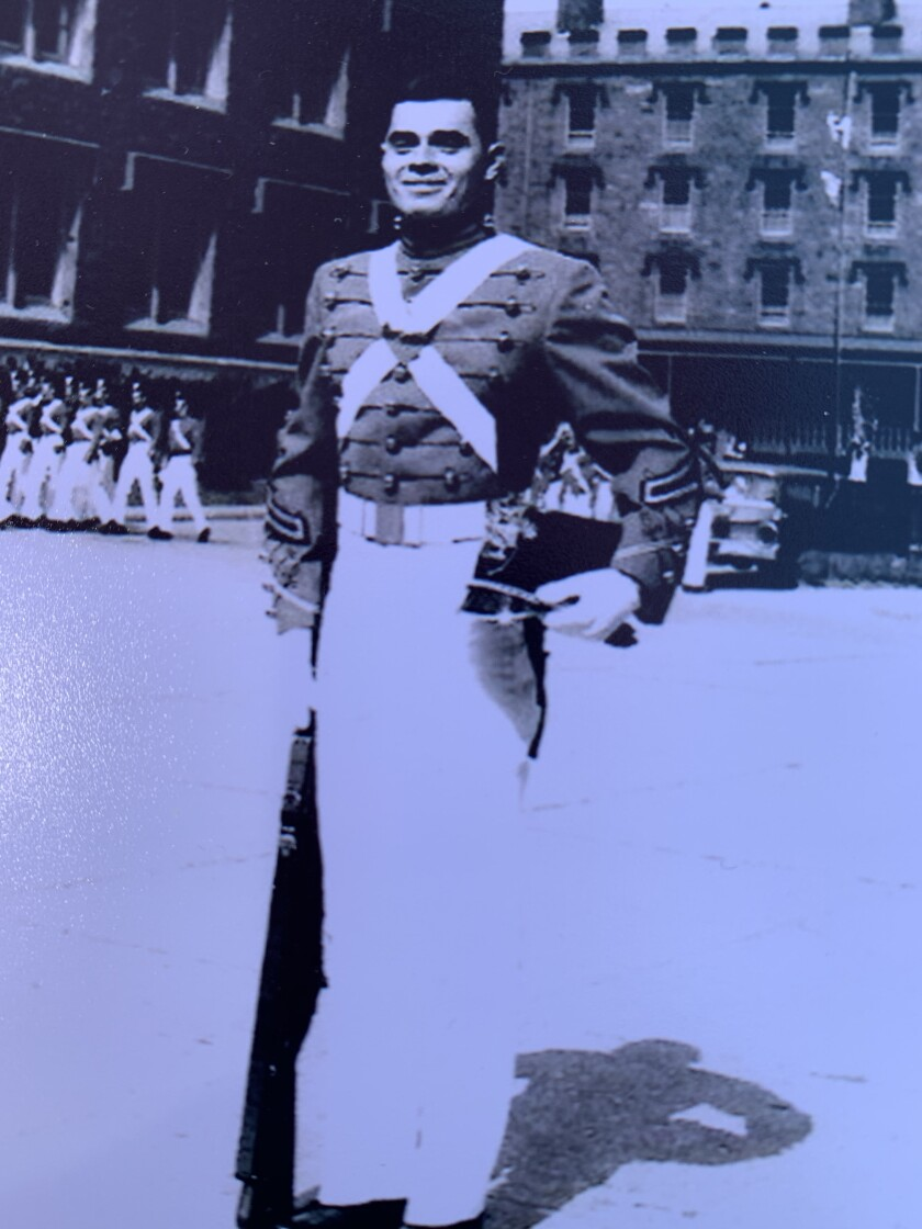 Jerry Cecil, Kate Hartford's grandfather, is pictured during his West Point years in the 1960s.