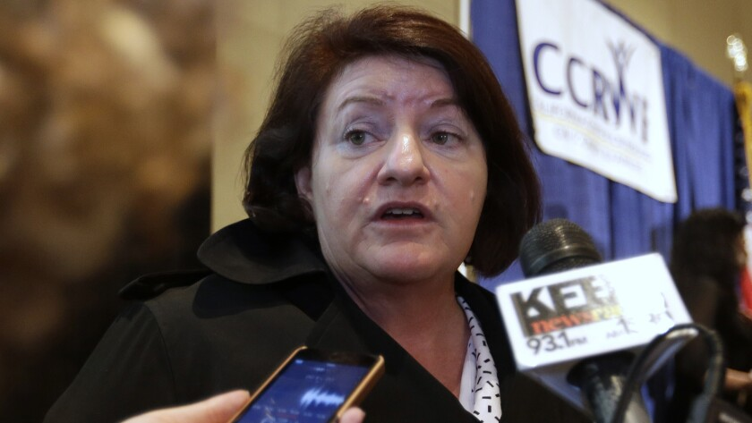 """Assembly Speaker Toni Atkins (D-San Diego), pictured last week, says: """"California has a strong history of protecting consumer privacy."""""""