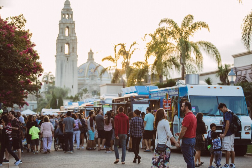 Balboa Park debuts its Spring Fling Food Truck Festival on Monday, April 15.