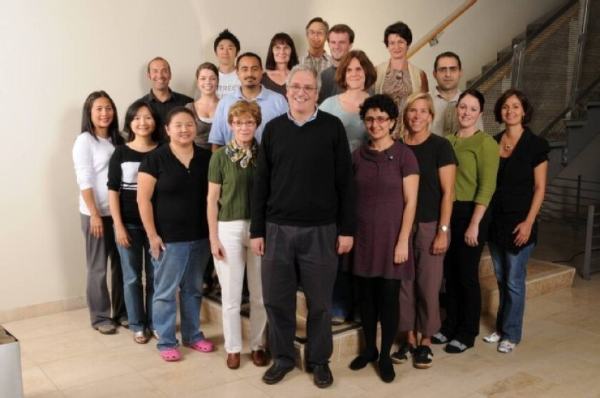 Members of the Hugh Rosen laboratory at Scripps, where the drug candidate RPC-1063 was discovered.