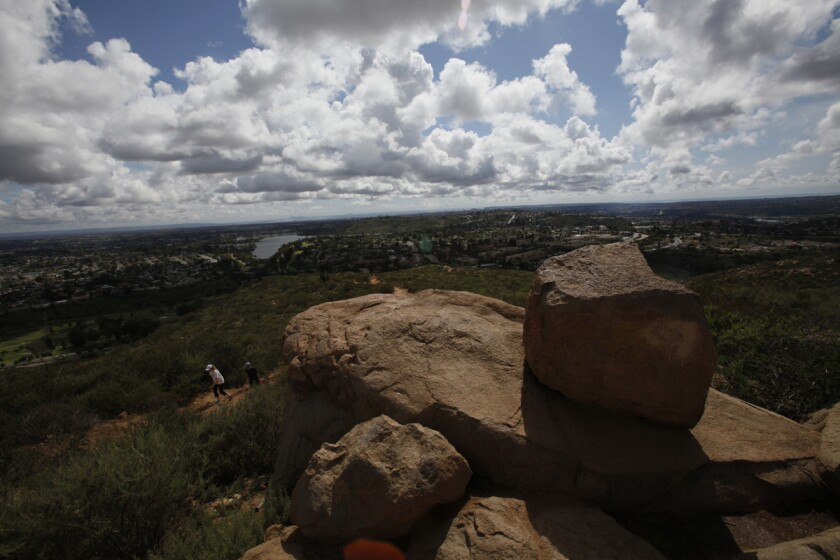 On a clear day from the top of Cowles Mountain, you can see the Coronado Islands off the coast of Baja. (Union-Tribune file photo)