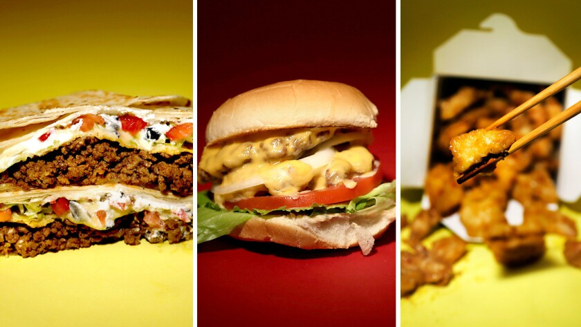 From the L.A. Times Test Kitchen, fast-food recipe hacks for Taco Bell's Crunchwrap Supreme, Panda Express' orange chicken and the In-N-Out Double Double.