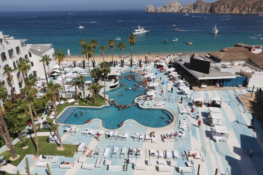 The ME Cabo resort in Cabo San Lucas, Mexico. The hotels and restaurants have pooled their funds to open the Los Cabos Tourism Board in offices in Century City.