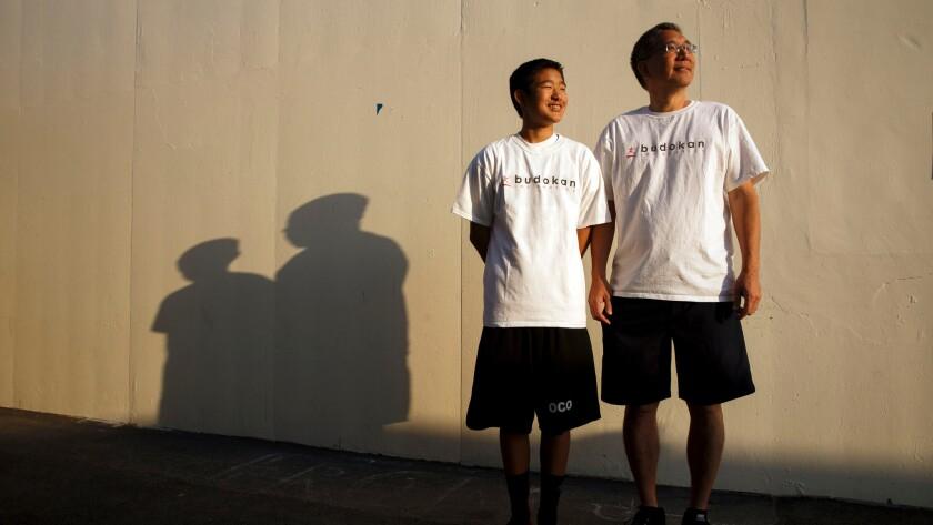 Alan Kosaka and son Aidan are working to get Budokan of Los Angeles built.