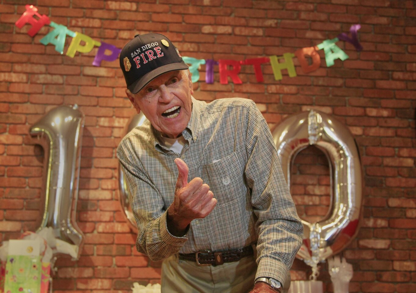 Retired Firefighter's 100th Birthday