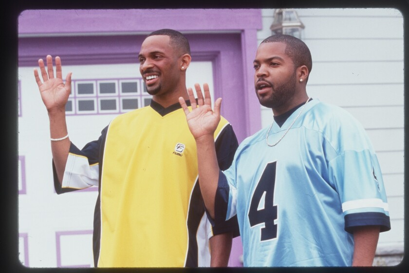 "Mike Epps, left, and Ice Cube in 2000's ""Next Friday."""