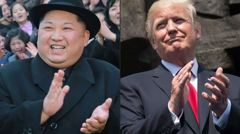 North Korean leader Kim Jong Un and President Trump.