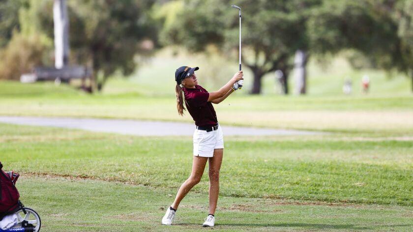 Lauren Gomez shot a 4-under-par 32 at Balboa to lead the Pointers past Coronado 225-234.