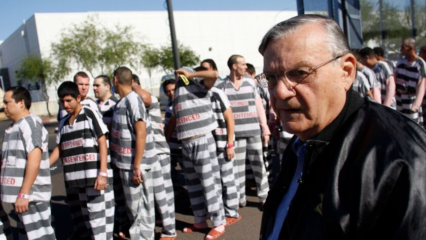 Sheriff Joe Arpaio with inmates in Phoenix in 2009.