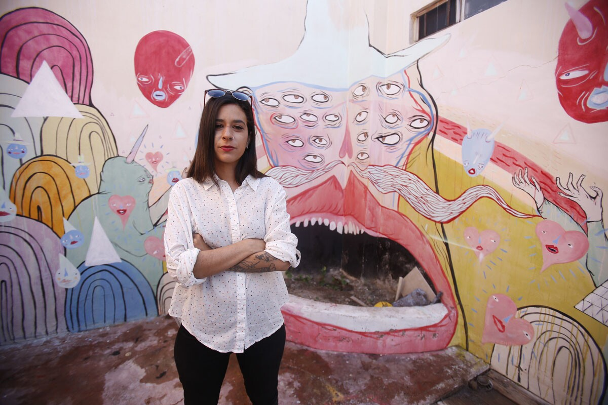 Tijuana, Baja California, Mexico March 26th, 2017: | Artist Paola Villase-or also known as Panca, shows us her studio in Playas de Tijuana, Baja California, Mexico. Panca outside her studio. | Alejandro Tamayo © The San Diego Union Tribune 2017
