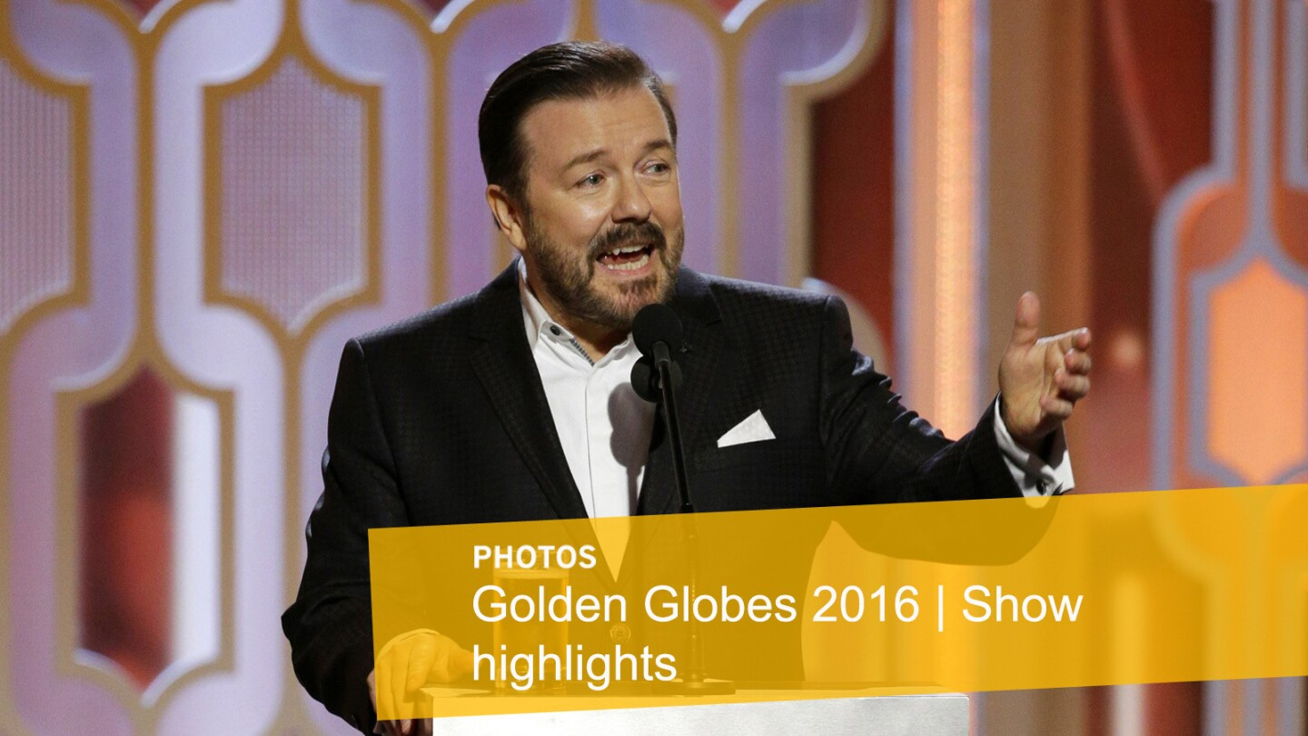 Comedian and host Ricky Gervais opened the show with jokes that made some laugh hysterically, and others cringe.