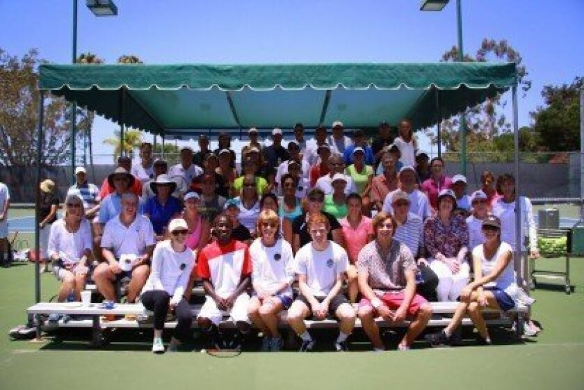 Above: Attendees at the fundraiser enjoyed golf and tennis clinics, among other activities. Courtesy photo