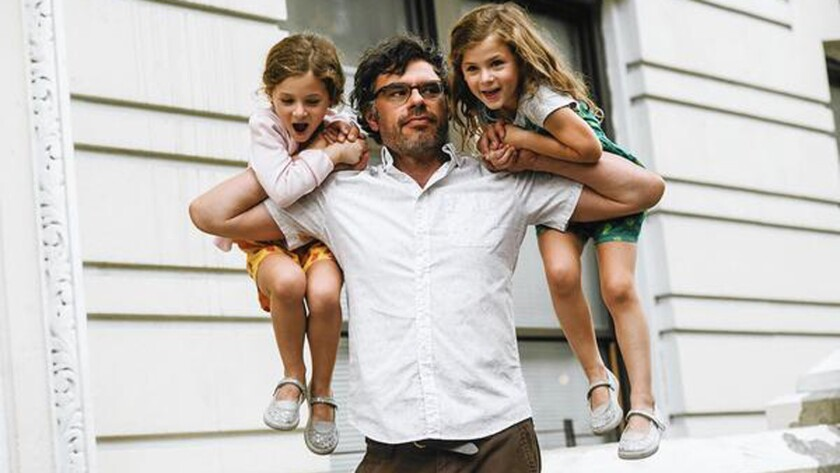 "Jemaine Clement with twins Aundrea Gadsby, left, and Gia Gadsby in a ""People Places Things"" scene."