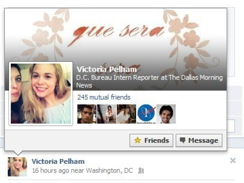 Facebook now shows you friends' profile and cover photos when you hover over their names.