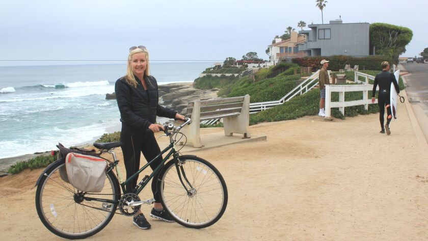 La Jollan Jessica Weinas took the Light on a bike ride through one of her favorite places to ride, W