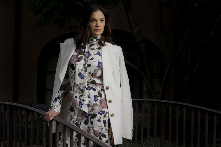 "Ruth Wilson, who is starring in Masterpiece's ""Mrs. Wilson"" on PBS and a Broadway production of ""King Lear,"" at the Langham Huntington in Pasadena."