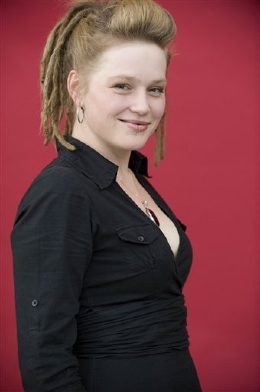"""In this publicity image released by Fox, """"American Idol"""" season nine contestant, Crystal Bowersox, of Elliston, Ohio, is shown in Los Angeles. (AP Photo/Fox, Michael Becker)"""