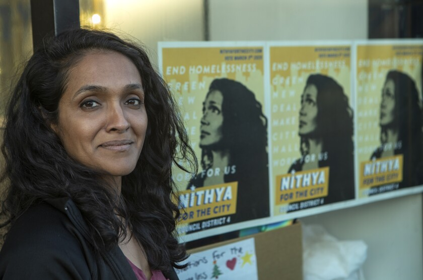 Los Angeles City Council candidate Nithya Raman