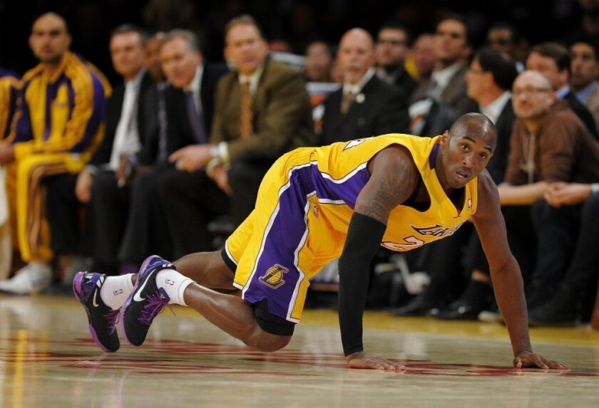 Lakers' Kobe Bryant plays against the Phoenix Suns on Dec. 10.