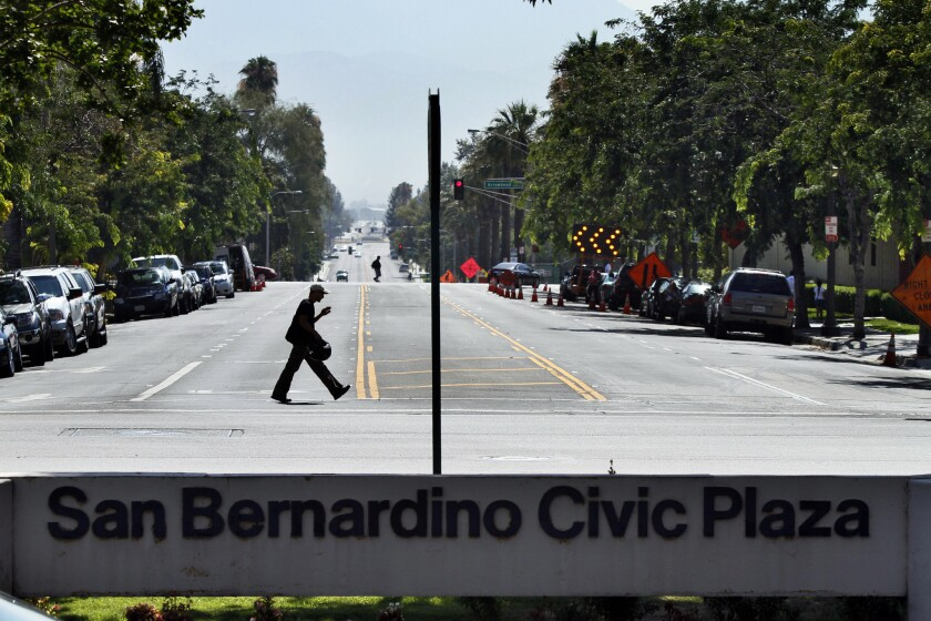 San Bernardino was ranked as the slowest recovering U.S. city in an economic analysis done by the consumer site Wallethub. The city filed for bankruptcy protection in 2012.
