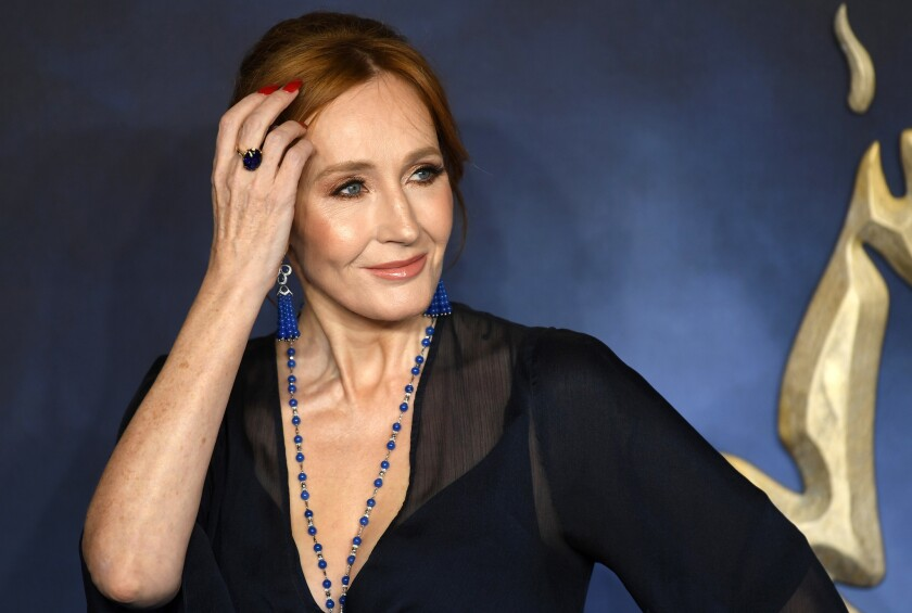 """J.K. Rowling at the British premiere of """"Fantastic Beasts: The Crimes of Grindelwald"""" in London on Nov. 13, 2018."""