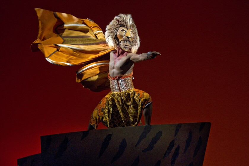 """Jelany Remy as Simba in the Broadway musical """"The Lion King."""""""