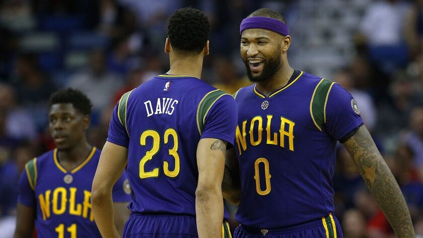 New Orleans' DeMarcus Cousins, right, and Anthony Davis now make up the NBA's top frontcourt duo.
