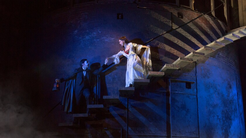"""""""The Phantom of the Opera"""" wowing Pantages audiences features Chris Mann as the Phantom and Katie Travis as Christine."""