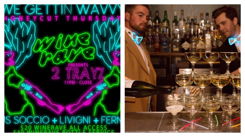 The wine rave arrives this Thursday at Honeycut in downtown LA