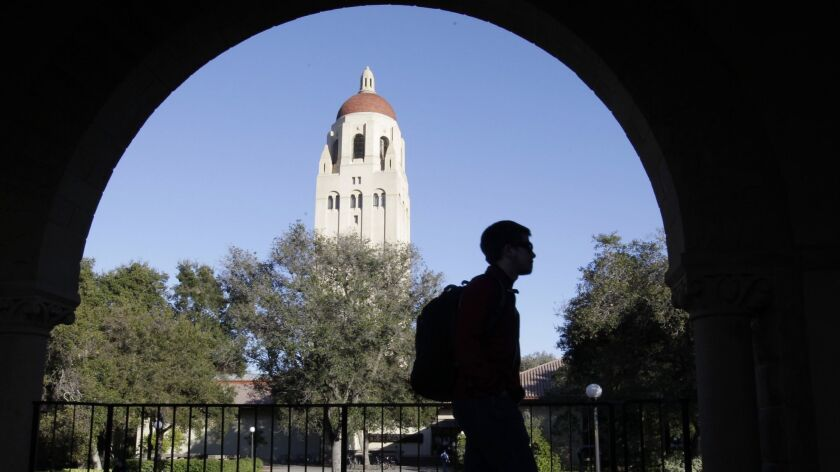 Hoover Tower at Stanford University is pictured in this 2012 photo.